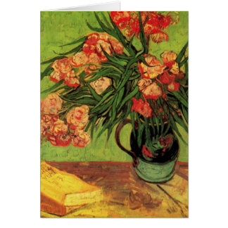 Van Gogh Still Life Vase with Oleanders and Books Greeting Card
