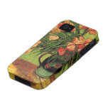 Van Gogh; Still Life Vase with Oleanders and Books Vibe iPhone 4 Cases