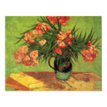 Van Gogh; Still Life Vase with Oleanders and Books Custom Announcements