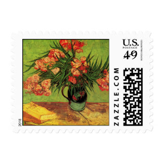 Van Gogh Still Life Vase with Oleanders and Books Postage