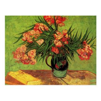 Van Gogh Still Life Vase with Oleanders and Books Postcard