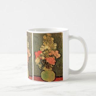 Van Gogh; Still Life Vase with Rose Mallow Flowers Coffee Mugs