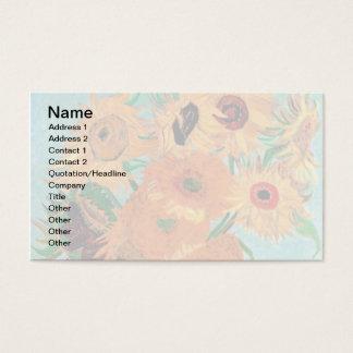 Van Gogh - Still Life Vase With Twelve Sunflowers Business Card