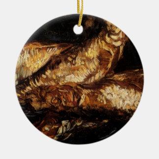 Van Gogh Still Life w Bloaters, Vintage Fine Art Ceramic Ornament