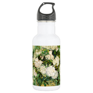 Van Gogh Still Life w/ Roses Impressionism Stainless Steel Water Bottle