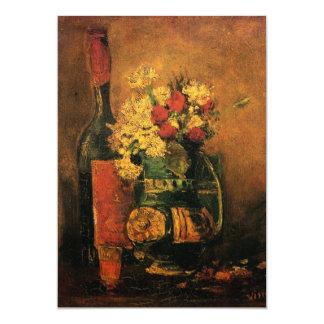 "Van Gogh Still Life Wine and Flowers Wedding 5"" X 7"" Invitation Card"