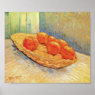 Van Gogh - Still Life with Basket and Six Oranges Print