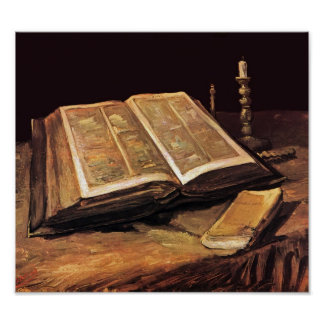 Van Gogh - Still Life With Bible Poster