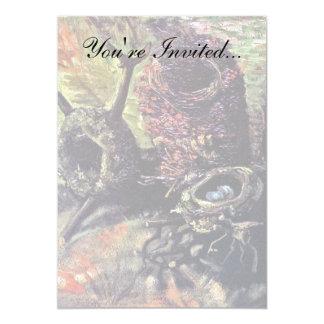 Van Gogh - Still Life With Birds Nests 5x7 Paper Invitation Card
