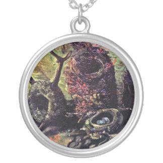 Van Gogh - Still Life With Birds Nests Round Pendant Necklace