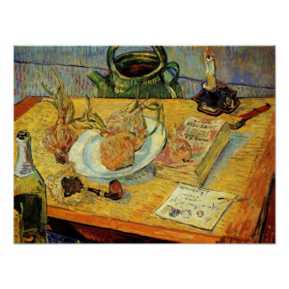 Van Gogh - Still Life with Drawing Board, Pipe Posters