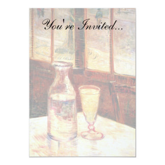 "Van Gogh - Still Life with Glass of Absinthe 5"" X 7"" Invitation Card"