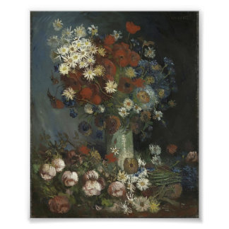 Van Gogh- Still life with meadow flowers and roses Posters