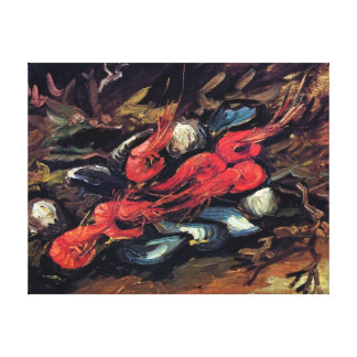 Van Gogh - Still Life With Mussels And Shrimp Canvas Print