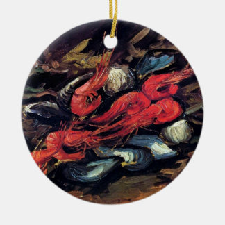 Van Gogh - Still Life With Mussels And Shrimp Ceramic Ornament