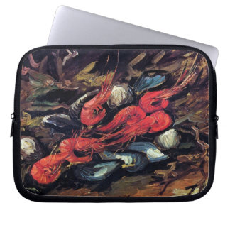 Van Gogh - Still Life With Mussels And Shrimp Laptop Sleeve