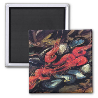 Van Gogh - Still Life With Mussels And Shrimp Magnet