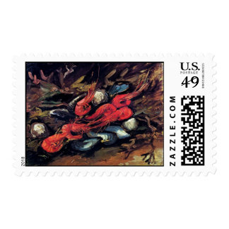 Van Gogh - Still Life With Mussels And Shrimp Postage Stamp