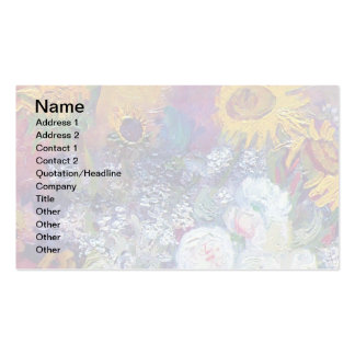 Van Gogh - Still Life With Roses And Sunflowers Double-Sided Standard Business Cards (Pack Of 100)