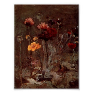 Van Gogh - Still Life with Scabiosa and Ranunculus Poster