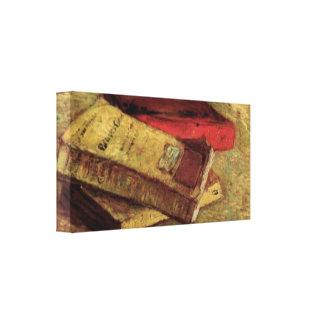 Van Gogh; Still Life with Three Books, Vintage Art Canvas Print