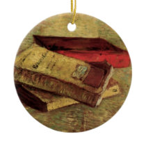 Van Gogh; Still Life with Three Books, Vintage Art Ceramic Ornament