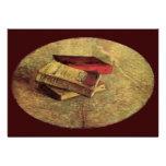 Van Gogh; Still Life with Three Books, Vintage Art Personalized Invite
