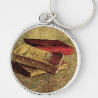 Van Gogh; Still Life with Three Books, Vintage Art Keychain