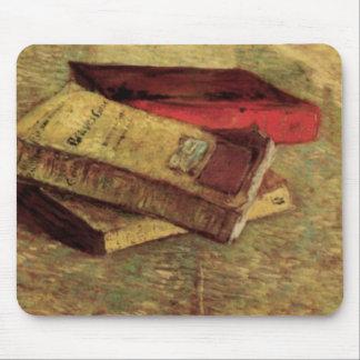 Van Gogh; Still Life with Three Books, Vintage Art Mouse Pad