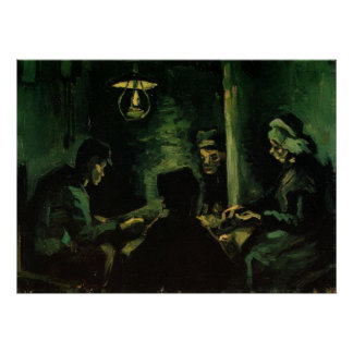 Van Gogh; Study for The Potato Eaters, Vintage Art Poster