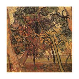 Van Gogh Study of Pine Trees Vintage Impressionism Wood Print