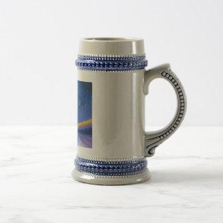 Van Gogh Style Blue Christmas Beer Stein