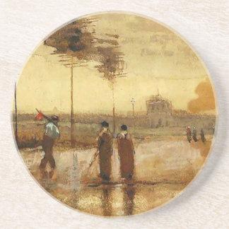 Van Gogh Sunday in Eindhoven Fine Art Beverage Coaster