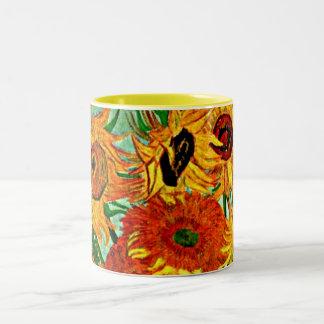 Van Gogh - Sunflowers 12 Two-Tone Coffee Mug
