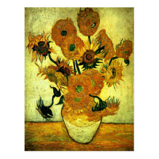 Van Gogh - Sunflowers, 14 Postcard