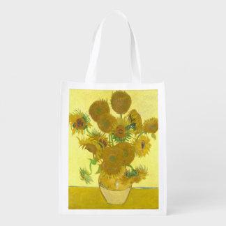 Van Gogh   Sunflowers   1888 Reusable Grocery Bag