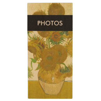 Van Gogh | Sunflowers | 1888 Wood Flash Drive