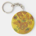 Van Gogh Sunflowers 2 Keychain