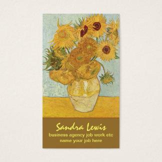 van gogh sunflowers business card