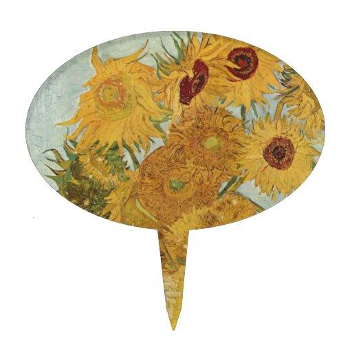 Van Gogh - Sunflowers Cake Pick