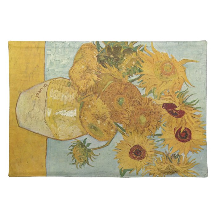 Van Gogh - Sunflowers Cloth Placemat