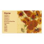 Van Gogh Sunflowers (F454) Vintage Fine Art Business Card Template