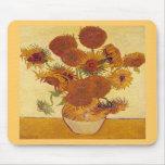 Van Gogh Sunflowers (F454) Vintage Fine Art Mousepad