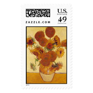 Van Gogh Sunflowers (F454) Vintage Fine Art Postage
