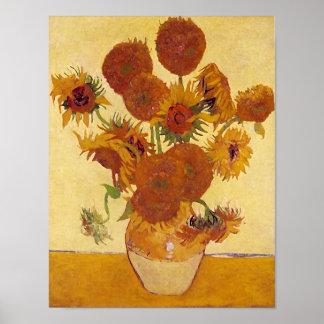 Van Gogh Sunflowers (F454) Vintage Fine Art Print