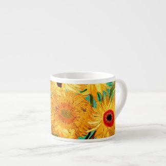Van Gogh Sunflowers (F455) Vintage Fine Art 6 Oz Ceramic Espresso Cup