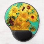 Van Gogh Sunflowers (F455) Vintage Fine Art Gel Mouse Mat