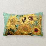 Van Gogh Sunflowers (F455) Vintage Fine Art Pillow
