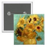Van Gogh Sunflowers (F455) Vintage Fine Art Pins