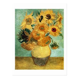 Van Gogh Sunflowers (F455) Vintage Fine Art Postcard